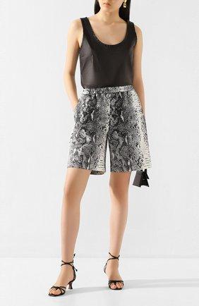 Женские хлопковые шорты N21 черно-белого цвета, арт. 20E N2M0/D043/0098 | Фото 2