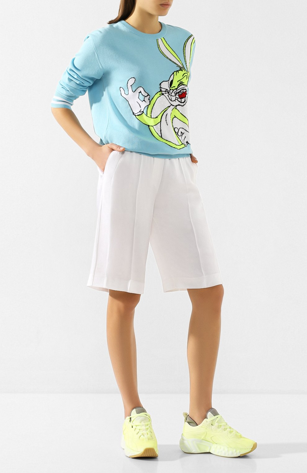 Женские шорты ICEBERG белого цвета, арт. 20E I2P0/D021/5932 | Фото 2