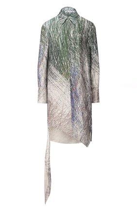 Женское платье из вискозы OFF-WHITE серого цвета, арт. 0WDB235S20FAB0010810 | Фото 1
