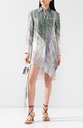 Женское платье из вискозы OFF-WHITE серого цвета, арт. 0WDB235S20FAB0010810 | Фото 2