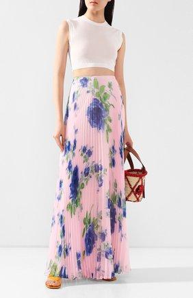 Женская юбка-макси PHILOSOPHY DI LORENZO SERAFINI розового цвета, арт. A0124/2184 | Фото 2