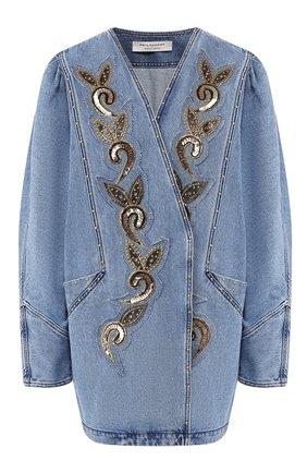 Женская джинсовая куртка PHILOSOPHY DI LORENZO SERAFINI голубого цвета, арт. A0515/2130 | Фото 1
