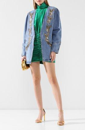 Женская джинсовая куртка PHILOSOPHY DI LORENZO SERAFINI голубого цвета, арт. A0515/2130 | Фото 2