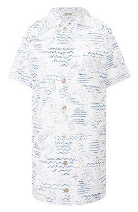 Женское хлопковое платье KENZO голубого цвета, арт. FA52R019257A | Фото 1