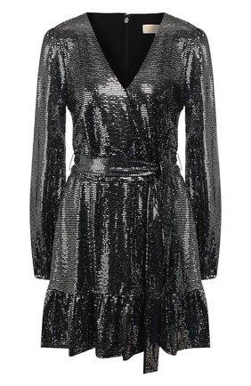 Женское мини-платье MICHAEL MICHAEL KORS серебряного цвета, арт. MH98ZGPD3B   Фото 1