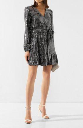 Женское мини-платье MICHAEL MICHAEL KORS серебряного цвета, арт. MH98ZGPD3B   Фото 2
