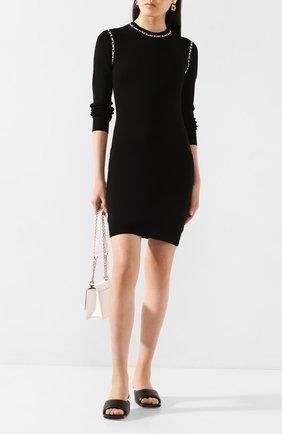 Женское платье из вискозы MICHAEL MICHAEL KORS черного цвета, арт. MF98ZGABVC | Фото 2