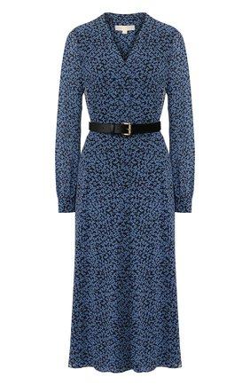 Женское платье с ремнем MICHAEL MICHAEL KORS синего цвета, арт. MH98Y46DGJ | Фото 1