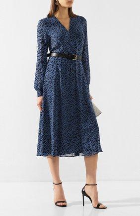 Женское платье с ремнем MICHAEL MICHAEL KORS синего цвета, арт. MH98Y46DGJ | Фото 2