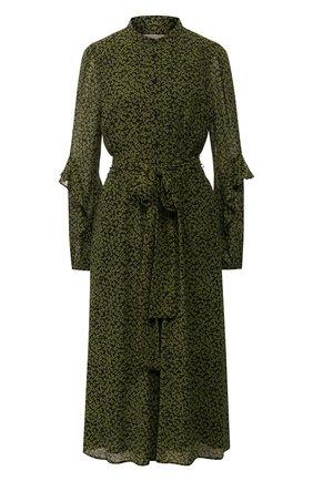 Женское платье-миди MICHAEL MICHAEL KORS зеленого цвета, арт. MH98ZCYDGJ | Фото 1