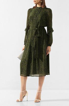 Женское платье-миди MICHAEL MICHAEL KORS зеленого цвета, арт. MH98ZCYDGJ | Фото 2