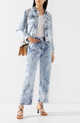 Женские джинсы RAG&BONE голубого цвета, арт. WDD20S2702B1RE   Фото 2