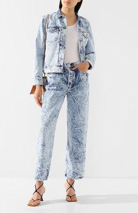 Женская джинсовая куртка RAG&BONE голубого цвета, арт. WDD20S1412B1RE | Фото 2