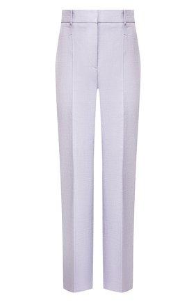 Женские брюки из смеси вискозы и хлопка JOSEPH сиреневого цвета, арт. JP000949 | Фото 1