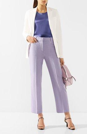 Женские брюки из смеси вискозы и хлопка JOSEPH сиреневого цвета, арт. JP000949 | Фото 2