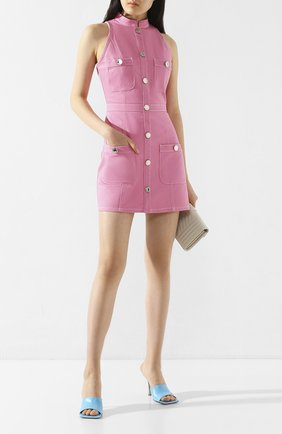 Женское джинсовое платье BALMAIN розового цвета, арт. TF06072/D022 | Фото 2