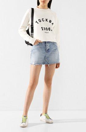 Женская хлопковый свитшот TOSKVA белого цвета, арт. SS.U001-W20-F5-100-300   Фото 2