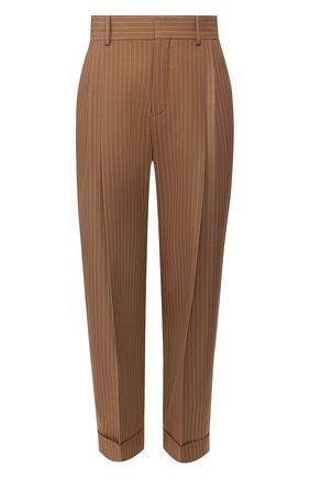 Женские шерстяные брюки CHLOÉ коричневого цвета, арт. CHC20UPA18063 | Фото 1
