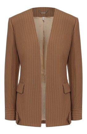 Женский шерстяной жакет CHLOÉ коричневого цвета, арт. CHC20UVE12063 | Фото 1