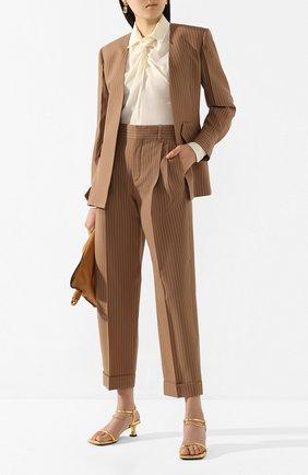 Женский шерстяной жакет CHLOÉ коричневого цвета, арт. CHC20UVE12063 | Фото 2