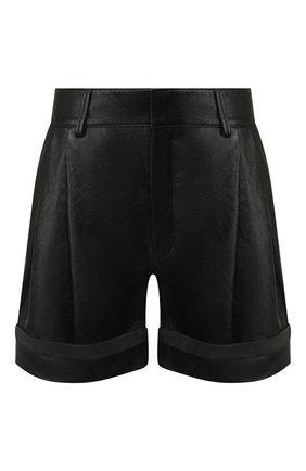 Женские кожаные шорты CHLOÉ черного цвета, арт. CHC20UCS01204 | Фото 1