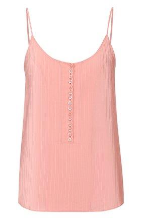 Женская шелковый топ CHLOÉ розового цвета, арт. CHC20UHT68307 | Фото 1