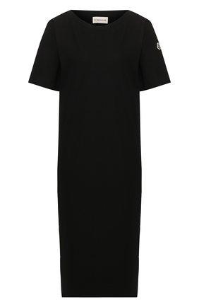 Женское хлопковое платье MONCLER черного цвета, арт. F1-093-8I708-00-V8102 | Фото 1