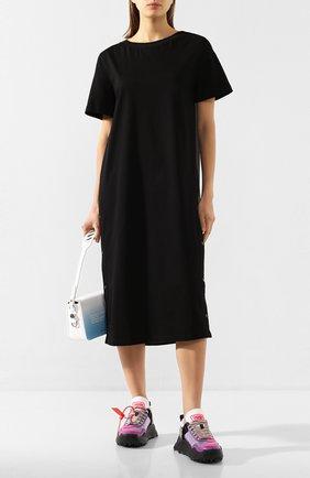 Женское хлопковое платье MONCLER черного цвета, арт. F1-093-8I708-00-V8102 | Фото 2