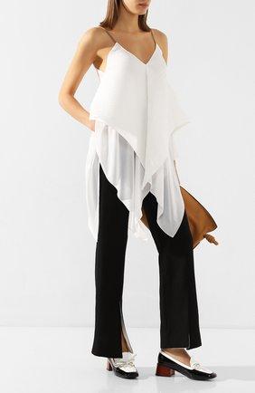 Женские льняные брюки LOEWE черного цвета, арт. S2102180FH | Фото 2