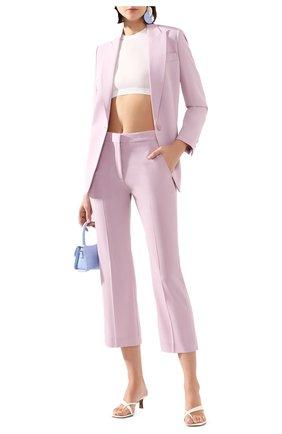 Женские шерстяные брюки STELLA MCCARTNEY сиреневого цвета, арт. 529866/SNB48   Фото 2