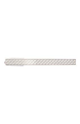Мужская зажим для галстука TATEOSSIAN серебряного цвета, арт. TC0357 | Фото 1