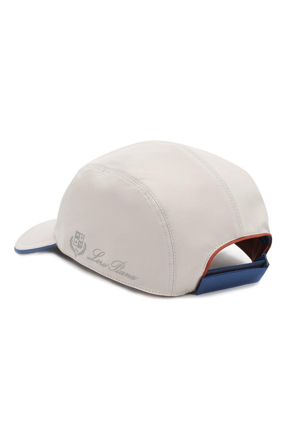 Мужской бейсболка LORO PIANA белого цвета, арт. FAL1413 | Фото 2