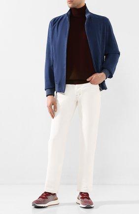 Мужские текстильные кроссовки BRUNELLO CUCINELLI бордового цвета, арт. MZUKIS0250 | Фото 2