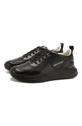 Мужские кожаные кроссовки SANTONI черного цвета, арт. MSAM21335NE0XFDNN01 | Фото 1