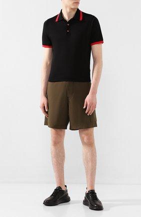 Мужские кожаные кроссовки SANTONI черного цвета, арт. MSAM21335NE0XFDNN01 | Фото 2