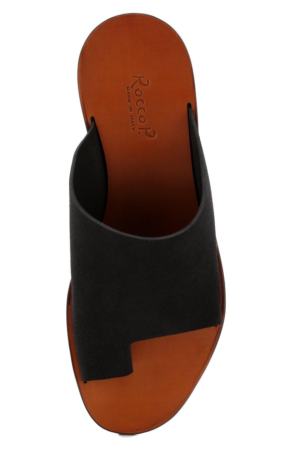 Мужские замшевые шлепанцы ROCCO P. черного цвета, арт. 10020/YANKEE | Фото 5