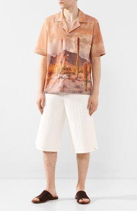 Мужские замшевые шлепанцы ROCCO P. коричневого цвета, арт. 10020/YANKEE | Фото 2