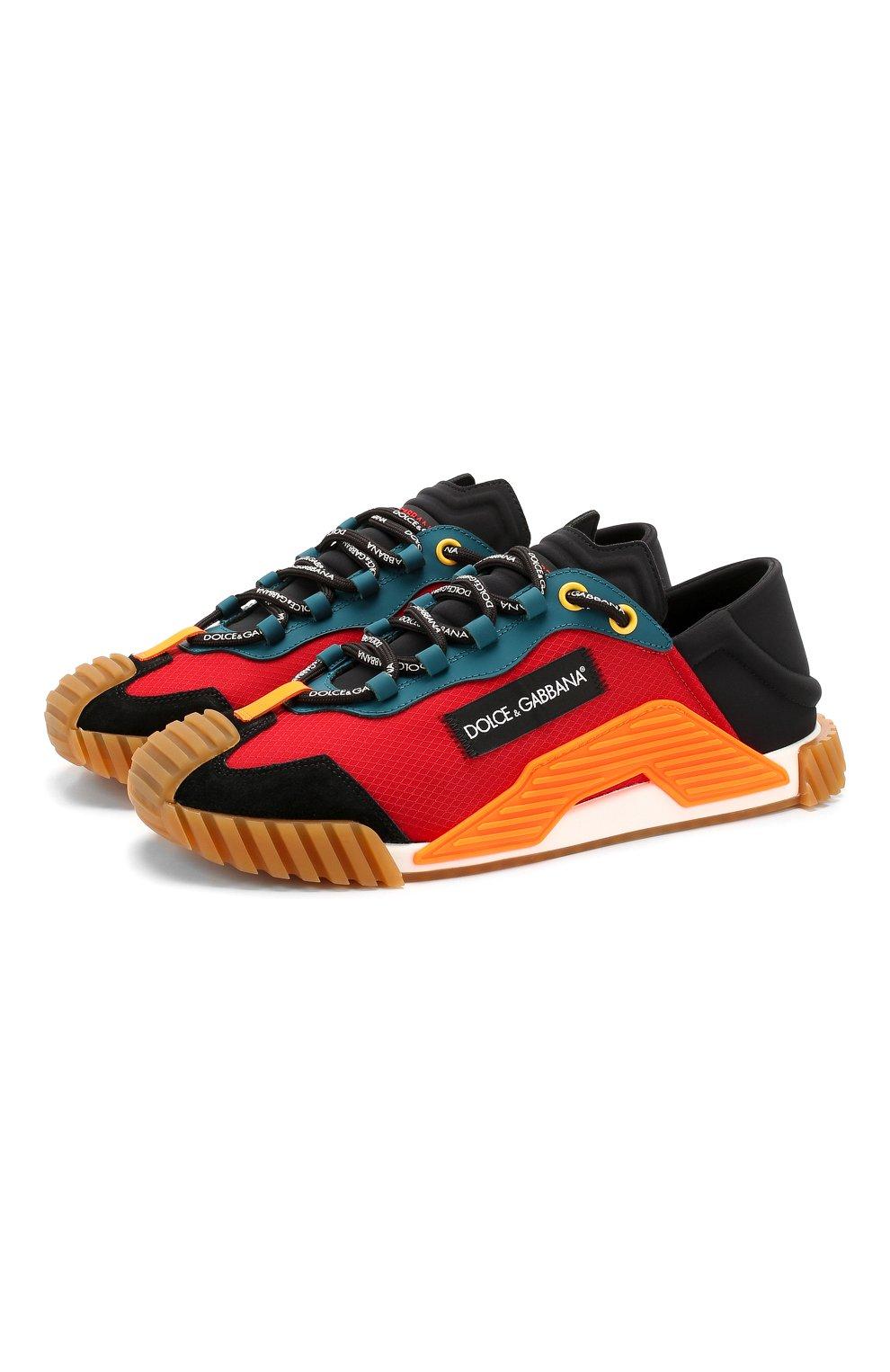 Мужские комбинированные кеды ns1 DOLCE & GABBANA разноцветного цвета, арт. CS1768/AJ955 | Фото 1