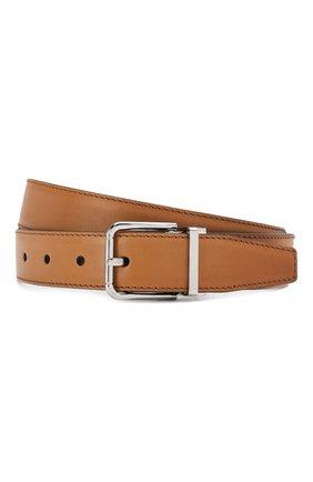 Мужской кожаный ремень DOLCE & GABBANA коричневого цвета, арт. BC4216/AX038 | Фото 1