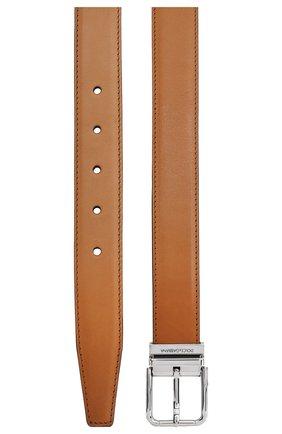 Мужской кожаный ремень DOLCE & GABBANA коричневого цвета, арт. BC4216/AX038 | Фото 2