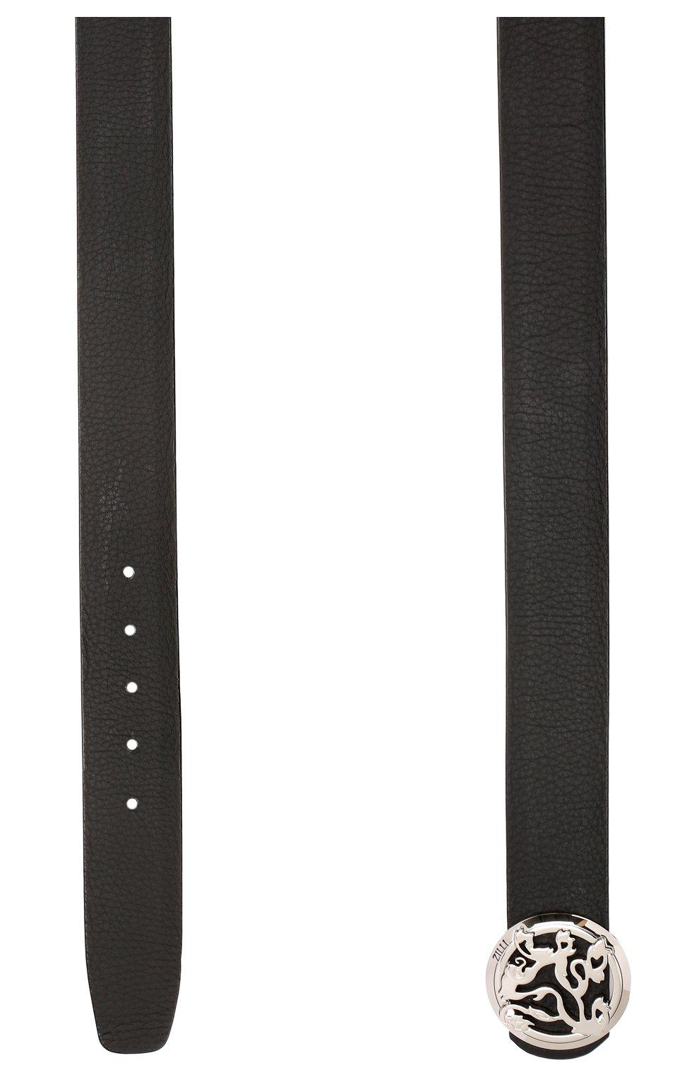 Мужской кожаный ремень ZILLI черного цвета, арт. MJL-CLAQE-01947/0035   Фото 2