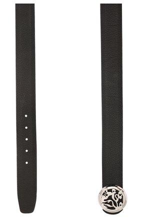 Мужской кожаный ремень ZILLI черного цвета, арт. MJL-CLAQE-01947/0035 | Фото 2