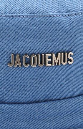 Мужская панама le bob gadjo JACQUEMUS голубого цвета, арт. 205AC03/69320 | Фото 3