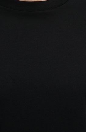 Мужская комплект из трех хлопковых футболок PRADA черного цвета, арт. UJM492-ILK-F0002-181   Фото 5 (Принт: Без принта; Рукава: Короткие; Длина (для топов): Стандартные; Материал внешний: Хлопок; Стили: Кэжуэл)