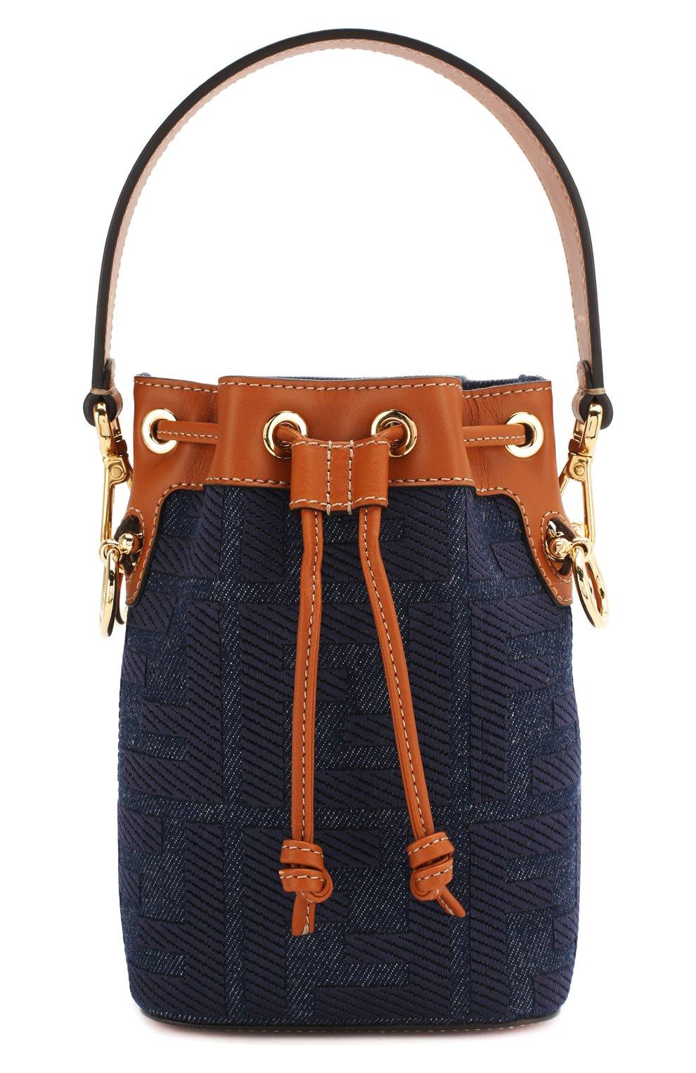 Женская сумка mon tresor FENDI синего цвета, арт. 8BS010 A9P2 | Фото 1