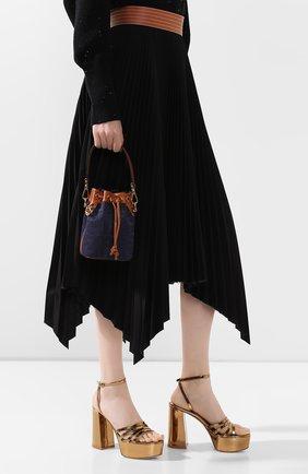 Женская сумка mon tresor FENDI синего цвета, арт. 8BS010 A9P2 | Фото 2