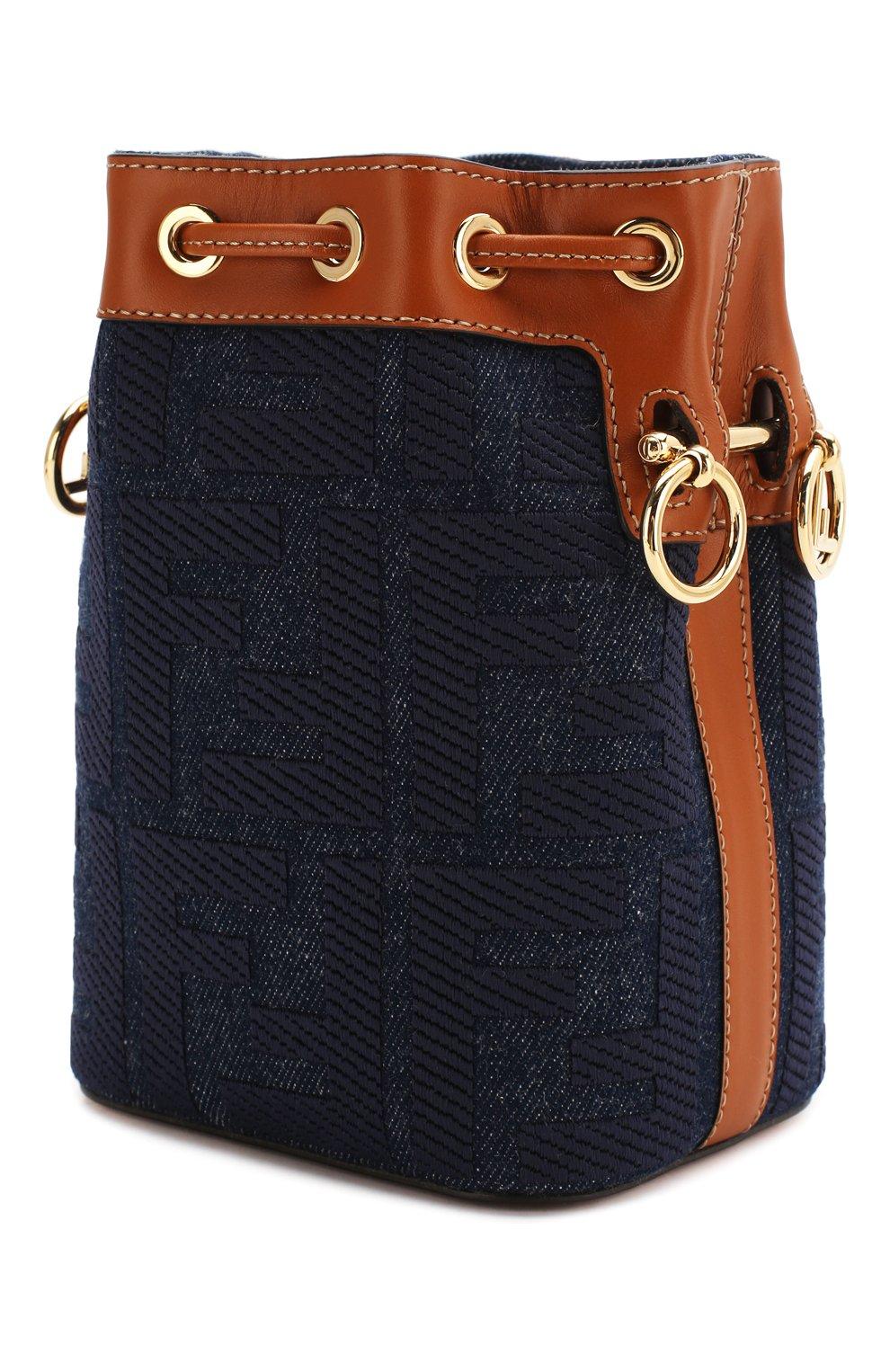 Женская сумка mon tresor FENDI синего цвета, арт. 8BS010 A9P2 | Фото 3