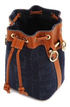 Женская сумка mon tresor FENDI синего цвета, арт. 8BS010 A9P2 | Фото 4