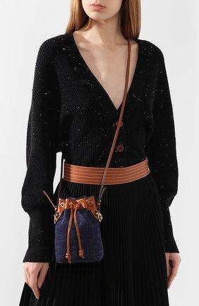 Женская сумка mon tresor FENDI синего цвета, арт. 8BS010 A9P2 | Фото 5