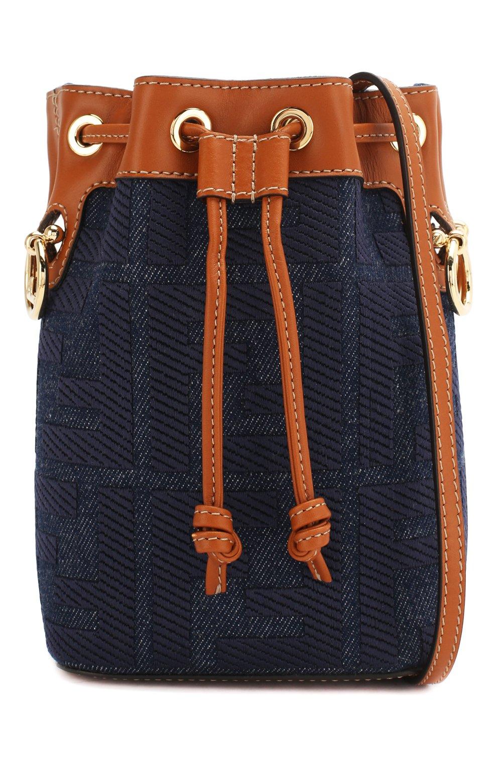Женская сумка mon tresor FENDI синего цвета, арт. 8BS010 A9P2 | Фото 6